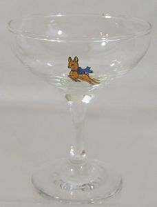 Babycham 'Champgane' Glass - extremely scarce in this format - only 2 - SOLD